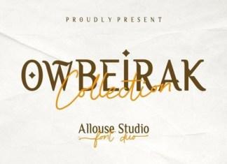Owbeirak Collection Font
