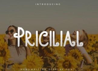 Pricilial Font
