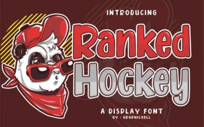 Ranked Hockey Font