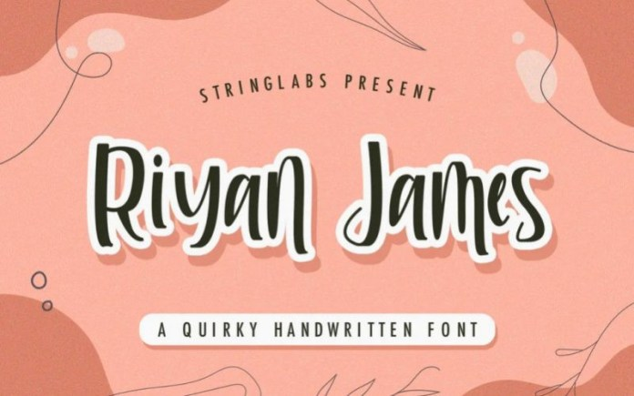 Riyan James Font
