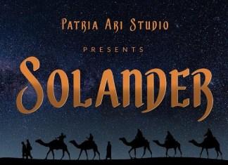Solander Font