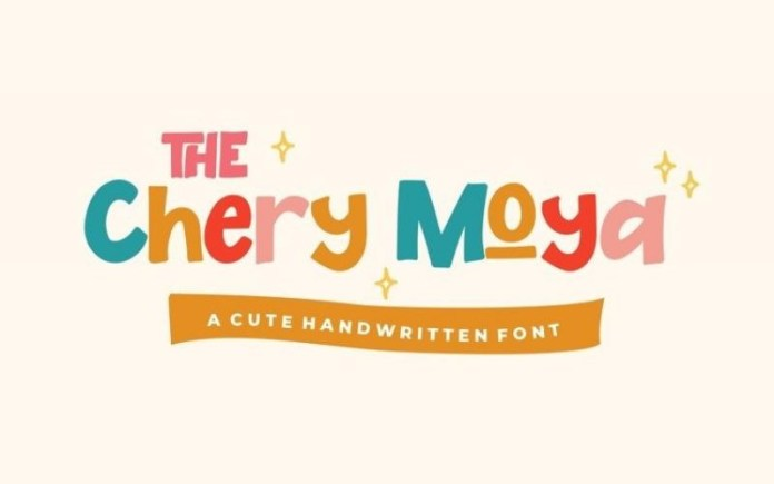 The Chery Moya Font