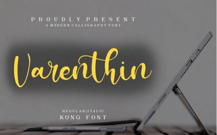 Varenthin Font