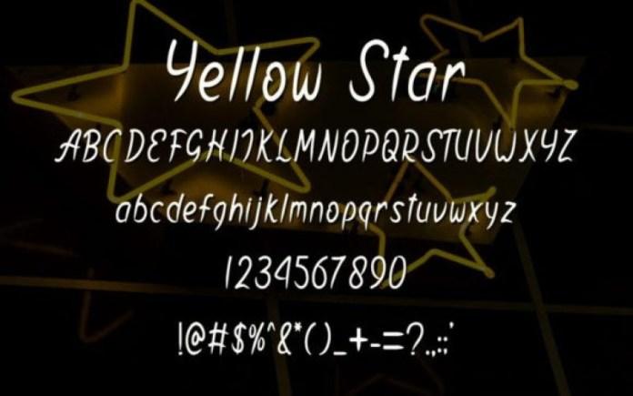 Yellow Star Font
