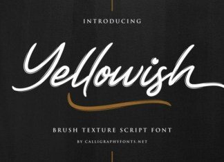 Yellowish Font
