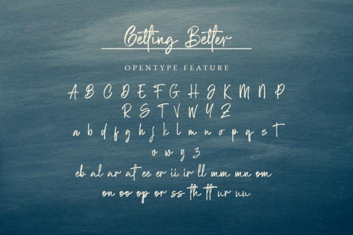 Getting Better Font