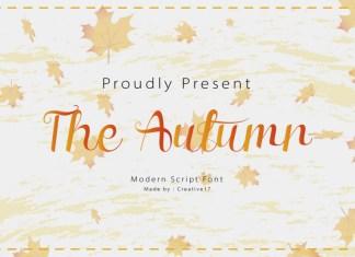 The Autumn Font