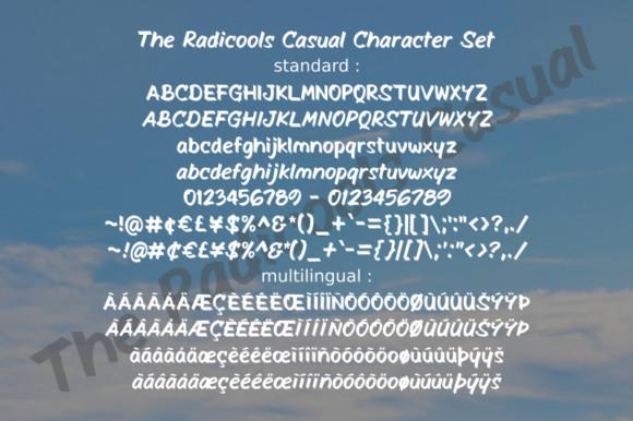 The Radicools Casual Font