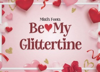 Be My Glittertine Font