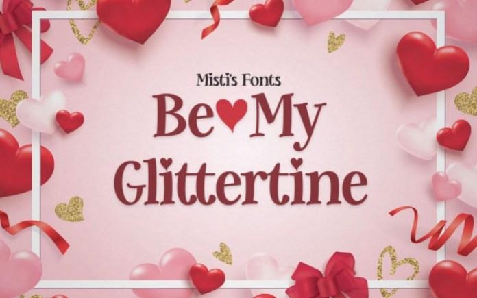 Be My Glittertine Font