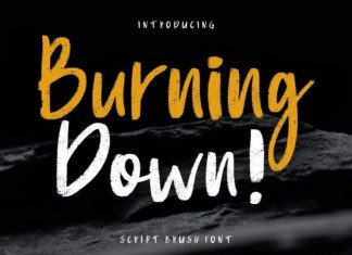 Burning Down Font