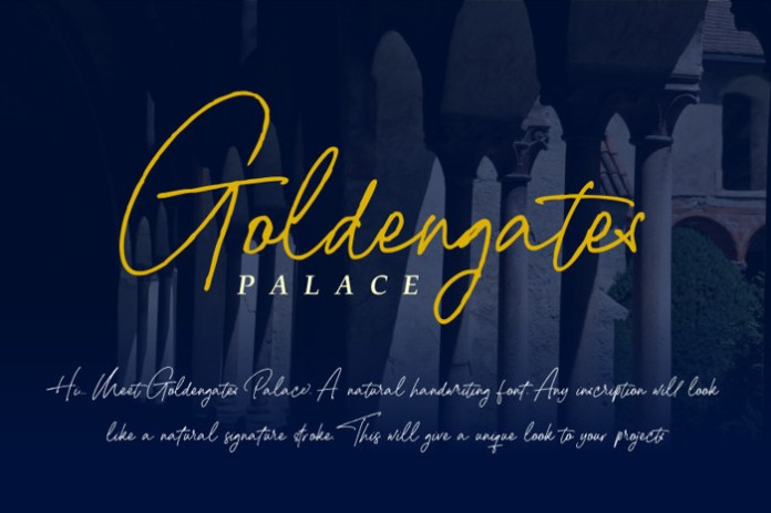 Goldengates Palace Font
