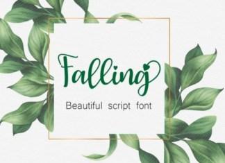 Falling Font