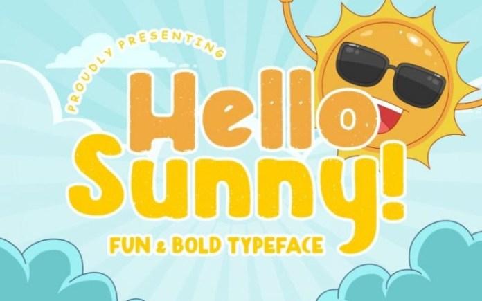 Hello Sunny Font
