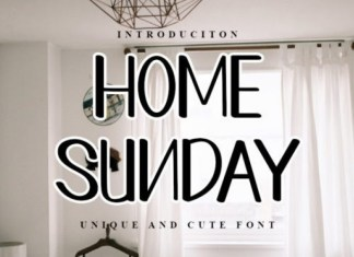 Home Sunday Font