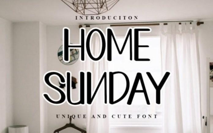 Home Sunday Font