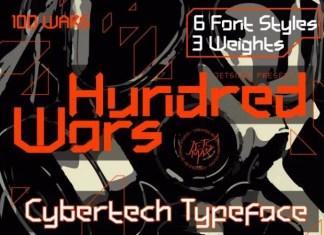 Hundred Wars Font