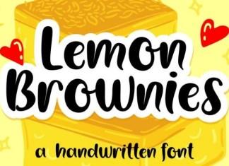 Lemon Brownies Font