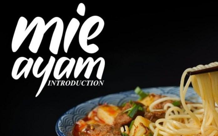 Mie Ayam Font