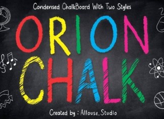 Orion Chalk Solid Font