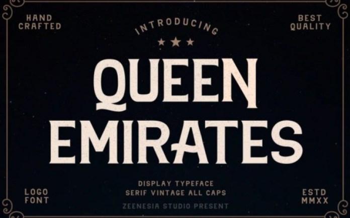 Queen Emirates Font