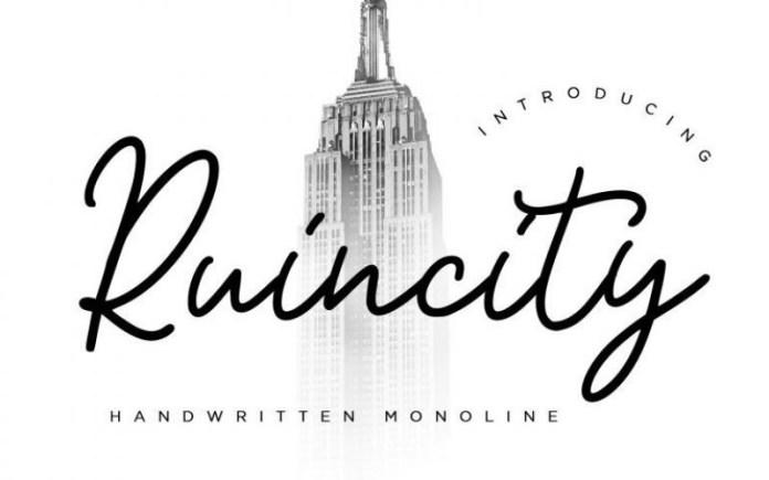 Ruincity Script Font