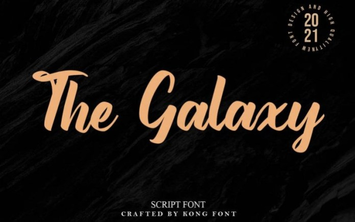 The Galaxy Font