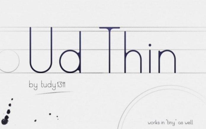 Ud Thin Font