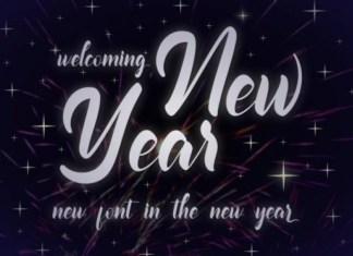 Welcoming New Year Font