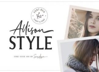 Allison Style Font