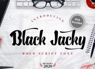Black Jacky Font