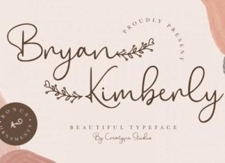 Bryan Kimberly Font