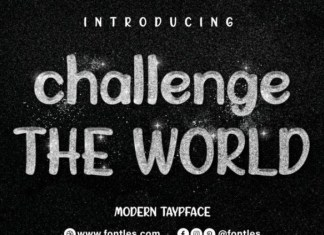 Challenge The World Font