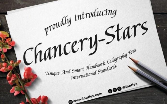 Chancery Stars Font