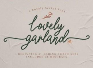 Lovely Garland Font
