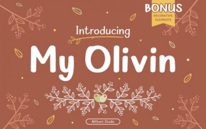 My Olivin Font