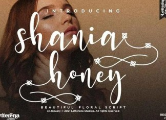 Shania Honey Font