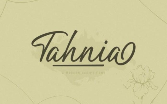 Tahnia Font