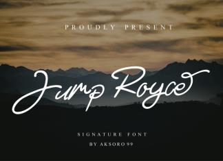 Jump Royce Handwritten Font