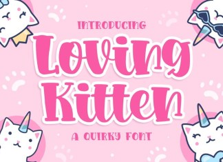 Loving kitten Font