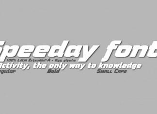 Speeday Font