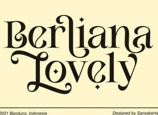 Berliana Lovely Font