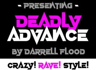 Deadly Advance Font