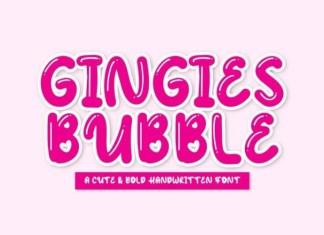 Gingies Bubble Font