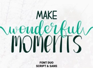 Make Wonderful Moments Font