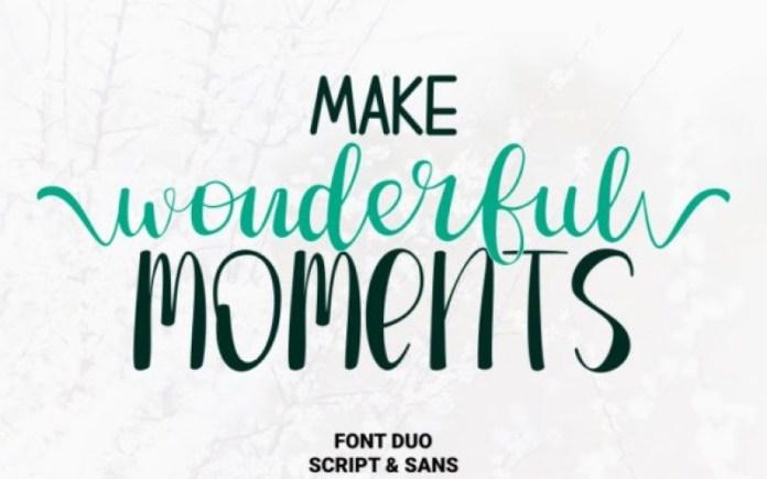Make Wonderful Moments Font