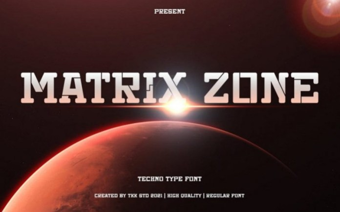 Matrix Zone Font