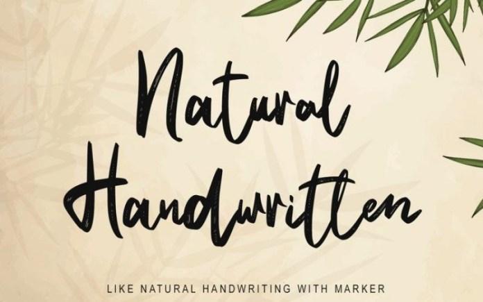 Natural Handwritten Font