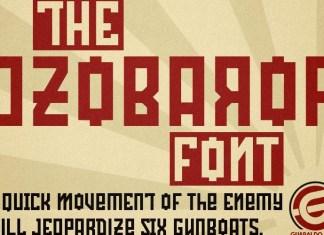 Ozobarof Font