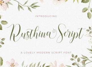 Rusthina Font